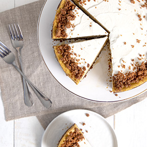 Pumpkin Gingersnap Cheescake