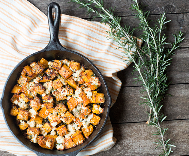 Roasted Butternut Squash and Goat Cheese