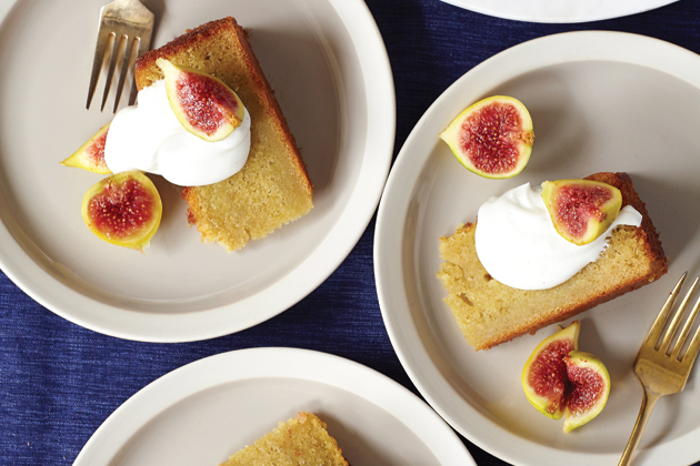Lemon Olive Oil Cake with Figs