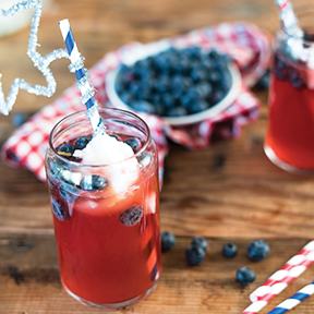 Red, White and Blue Soda Float