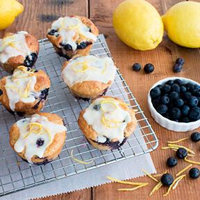 Glazed Blueberry Lemon Muffins