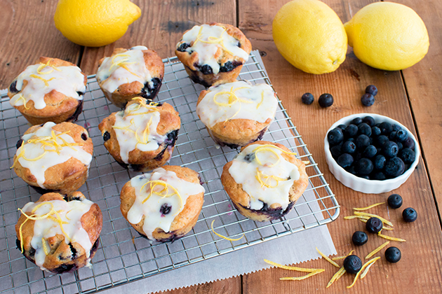 Glazed Blueberry Lemon Muffins