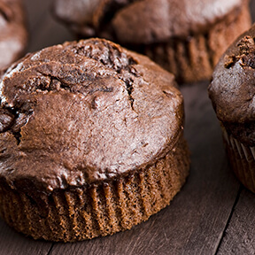 Chocolate Chia Muffins