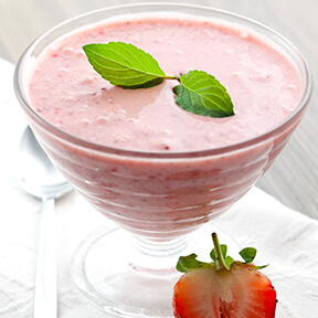Strawberry Pomegranate Mousse