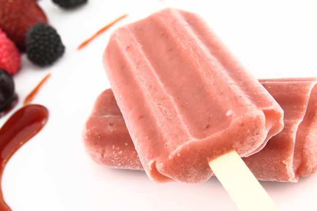 Red Berry Popsicles