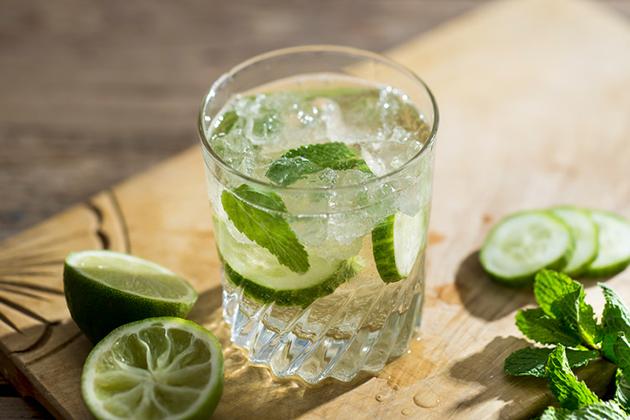Tropical Cucumber Cooler Cocktail