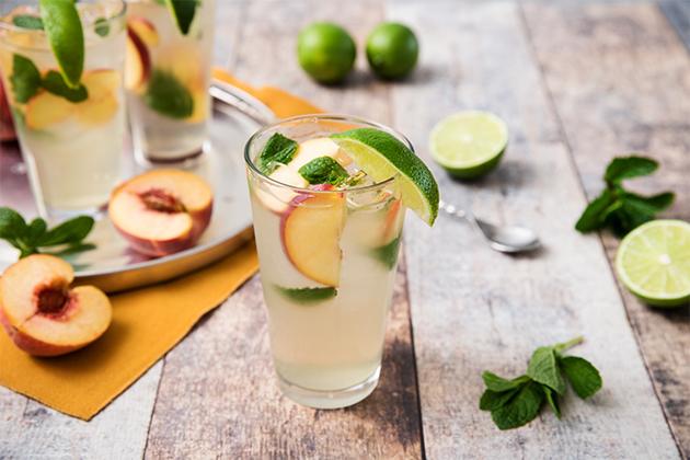Peachy Mojito Mocktail