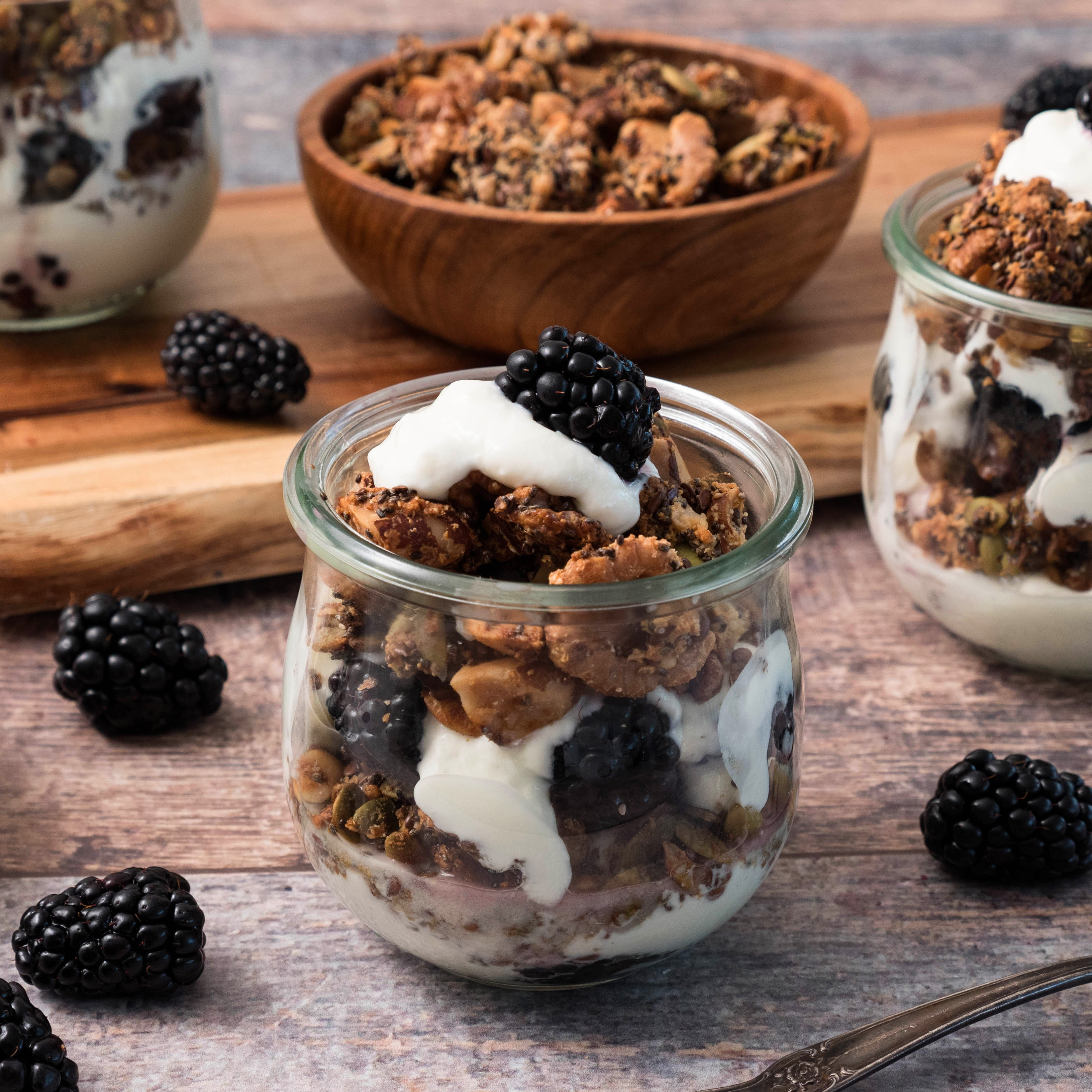 Nutty Grain-Free Granola and Yogurt Parfaits