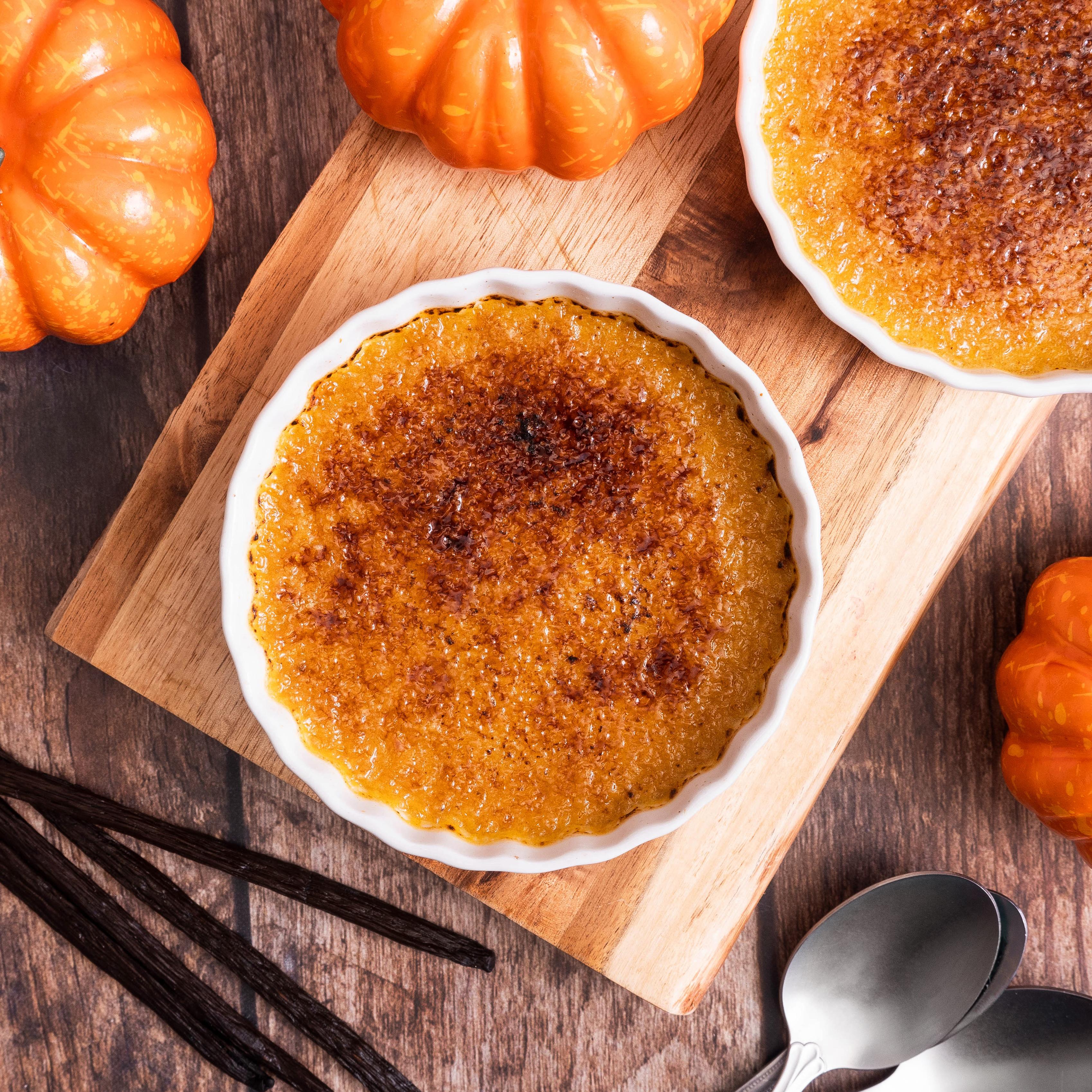 Reduced Sugar Pumpkin Crème Brûlée