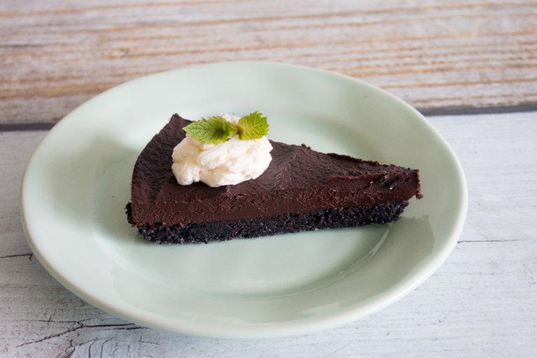 Chocolate Peppermint Truffle Tart