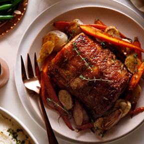 Raw Sugar and Dijon-Glazed Pork Loin