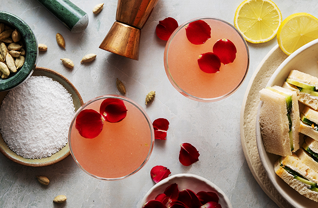 Cardamom and Rose Sipper