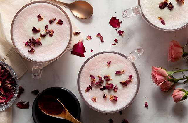 Hibiscus Rose Latte