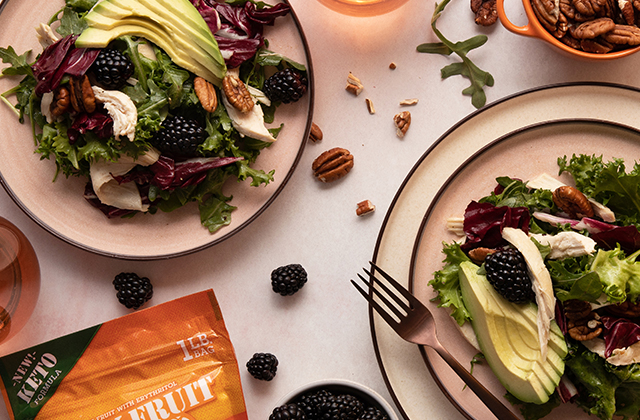 Roast Chicken and Blackberry Salad With Champagne Vinaigrette