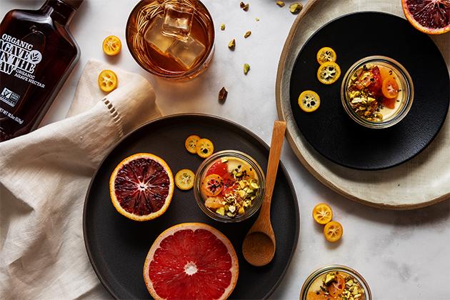 Sous Vide Vanilla Bean Pots de Crème With Fresh Citrus Compote